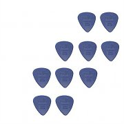 10 Hard Nylon Guitar Picks - 0.85 mm thickness - Royal Blue
