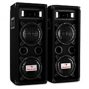 Pair Auna PW-65X22 3-Way DJ PA Speakers 1200W