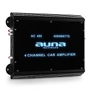 Auna W2-AC400 4-Channel Car Amplifier with LED Lights 4000W
