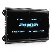 Auna W2-AC600 6-Channel Car Amplifier with LED Lights 6000W