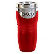 Brugo Thermal Travel Mug for Coffee and Tea - Ruby Red