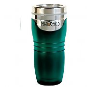 Brugo Thermal Travel Mug for Coffee and Tea - Mediterranean Green