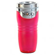 Brugo Thermal Travel Mug for Coffee and Tea - Flamingo Pink
