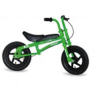Kawasaki MX12 Kids Bike 12&quot; Tyres Green Children Push Bicycle