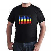 Trend T-Shirt Music Activated LED 3-Colour Equalizer - Size XL