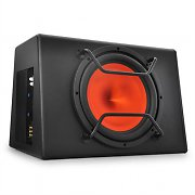 "Peiying BB300X Active Car Audio Subwoofer 12"" 500W Orange"