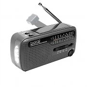 Muse MH07-DS Solar Wind-Up World Band Radio Receiver -Silver