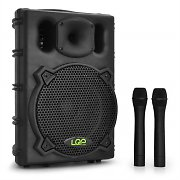 LQP PA 10-KIT Portable PA System Speaker USB & Wireless Mics