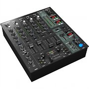 Behringer DJX-750 5-Channel DJ Mixer Effects XPQ Microphone