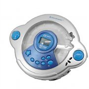 Soundmaster KCD-25 Kids Blue CD Player with Mic Headset