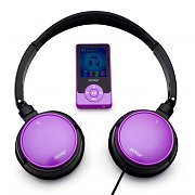 Denver MPG-2044 MP4 MP3 Player 4GB and Headphones - Purple