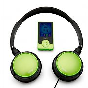 Denver MPG-2044GR MP4 MP3 Player 4GB and Headphones - Green
