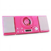 Denver MC-5000 CD Player Micro System Wall Mount AUX - Pink