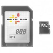 Maxflash Micro SD Card 8GB and SD Memory Card Adaptor