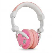 Trevi DJ-628 Folding DJ Headphones Pink White