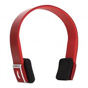 Auna KUL-01 Red Wireless Bluetooth Headphones with Built-In Mic
