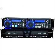 Omnitronic XDP-2800 Dual PA DJ CD Player SD USB MP3