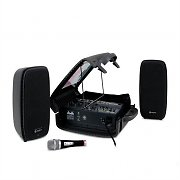 Skytec PSS-50 Portable PA Speaker System with 6-Channel DJ Mixer USB SD MP3