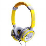 iDance Crazy 201 Gray / Yellow Portable Headphones