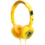 iDance Jockey 100 Yellow Portable Headphones