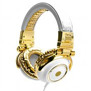 iDance Disco 200 Gold / White Portable DJ Headphones
