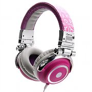 iDance Disco 300 Silver / Pink Portable DJ Headphones