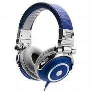 iDance Disco 500 Silver / Blue Portable DJ Headphones