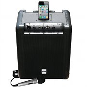 Gemini MS POD Mobile DJ iPod Active PA System + Microphone 50W