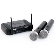 Skytec STWM712 VHF Wireless Microphone Set 2 Handheld mics