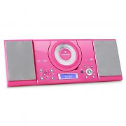 Auna MC-120 Hi-Fi Stereo System MP3 CD Player USB - Pink