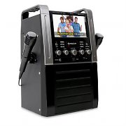 Auna KA8B Karaoke Machine DVD/CD+G Player USB MP3 2 x Mics Black