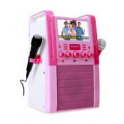 Auna KA8P Pink Karaoke Machine DVD/CD+G Player USB MP3 2 x Microphones