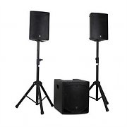 "QTX QL1208MA Active 2.1 PA Speaker System 12"" Subwoofer 2 x 8"" Speakers"