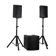 "QTX QL1510MA Active 2.1 PA Set 15"" Subwoofer 2 x 10"" Speakers"