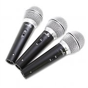 Chord DM03X Dynamic Microphone Set with Travel Case 3 x Mics