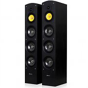 "Pair Skytronic SHFT59B Home Hifi Tower Speakers 3x 6.5"" woofers - 500W"