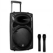 "QTX QR12PA 12"" Active Portable PA Speaker System with VHF Mics"