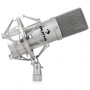 Auna MIC-900S USB Cardioid Studio Condenser Microphone Silver