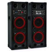 Skytec SPB-28 PA Active Passive Dual 8&quot; PA Speakers 800W