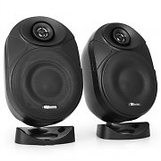 "Power Dynamics PD-ISF5B 5"" Active Speaker Pair 120W - Black"