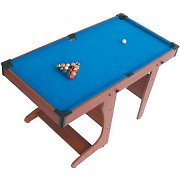 Riley PT20-46D Foldable Billiard Pool Table + Cues &amp; Balls