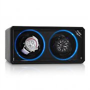 Klarstein 8LED2S Watch Winder 2 Watches Black LED Effect
