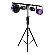Ibiza DJ 100 LED RGB DJ Disco Party Lights and T Bar Stand