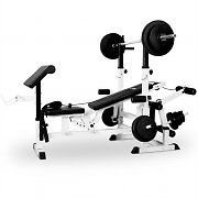 Klarfit Power Station Bench Press Dumbbell Set Cable Pull Curl Station