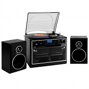 Auna 388-BT HiFi CD Stereo System Turntable Cassette Bluetooth USB SD