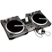 Numark iBattlepack Dual DJ Vinyl Turntable Mixer with iPod Dock & Headphones
