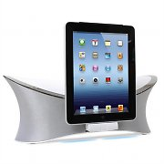 MQSystems MW-1238 iPad iPhone iPod 2.1 Audio Speaker Dock - White