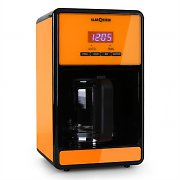 Klarstein Bonjour Coffee Machine with Timer 1000W 1.5 Litre - Orange