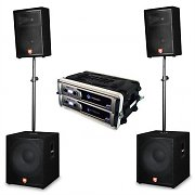 Crown XLS 1000 2 x Amplifiers JBL 4 x Speakers Subs DJ Set 4800W PA System