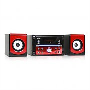 Inovalley CH10CD Compact Hifi Stereo System USB SD MP3 CD Player - Red
